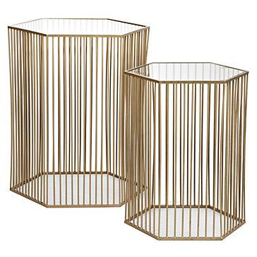 Stixx End Tables   Set Of 2   Z Gallerie