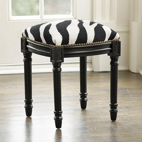 Louis Needlepoint Zebra Stool - Ballard Designs 91c628d03
