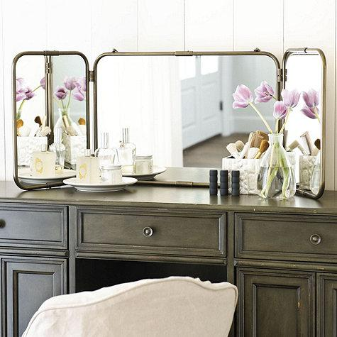 ideas tri white mirror design vanity fold home amazon