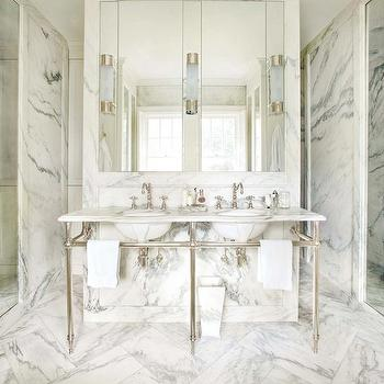 Marble Master Bathroom, Transitional, bathroom, Atlanta Homes & Lifestyles