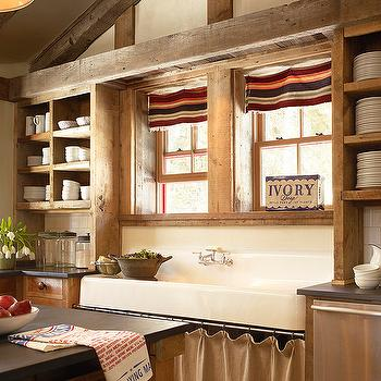 Skirted Kitchen Sink, Country, kitchen, Kelly and Abramson Architecture