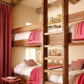 Girls' Bunk Beds, Country, girl's room, Kelly and Abramson Architecture