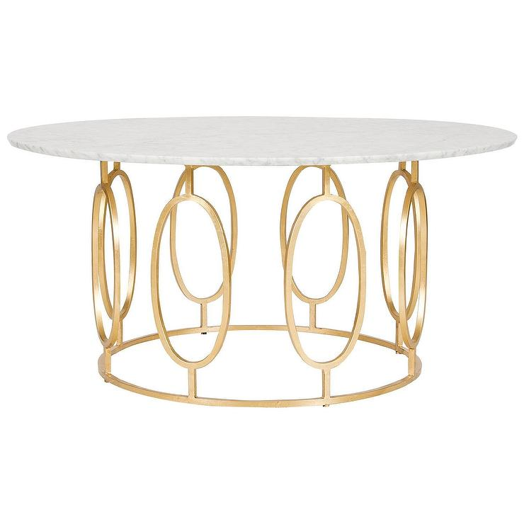 White Marble Round Gold Base Coffee Table: White Marble Round Gold Base Coffee Table