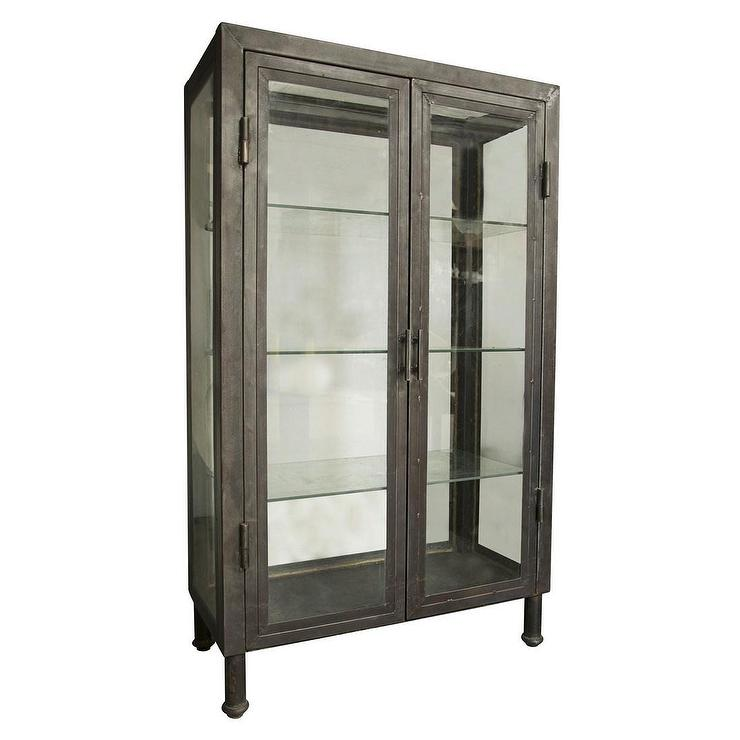 Noir Metal Bar Cabinet I Zinc Door