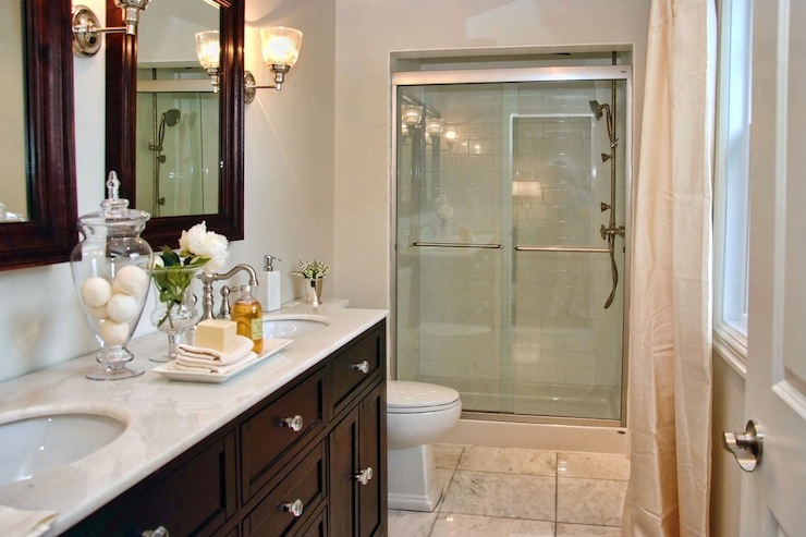 Espresso double vanity traditional bathroom lux decor for Espresso bathroom ideas