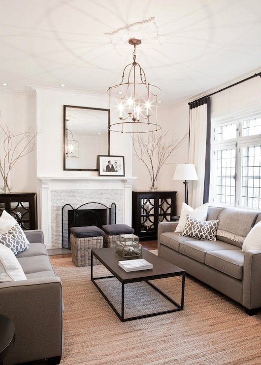 Modern Gray Sofas Contemporary Living Room Lux Decor