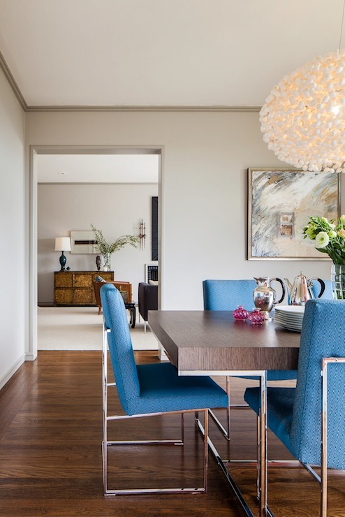 Milo Baughman Chairs Contemporary Dining Room
