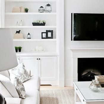 Bookcases Built Around Fireplace Design Ideas