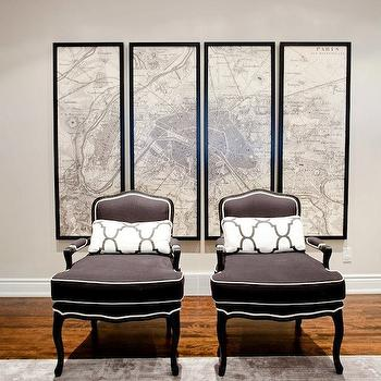Gray Bergere Chairs, Transitional, living room, Lux Decor