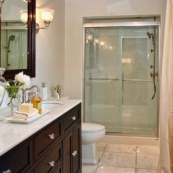 Espresso Double Vanity, Traditional, bathroom, Lux Decor