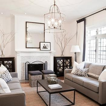Modern Gray Sofas, Contemporary, living room, Lux Decor
