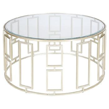 Delightful Worlds Away Jenny Silver Leafed Coffee Table I Zinc Door