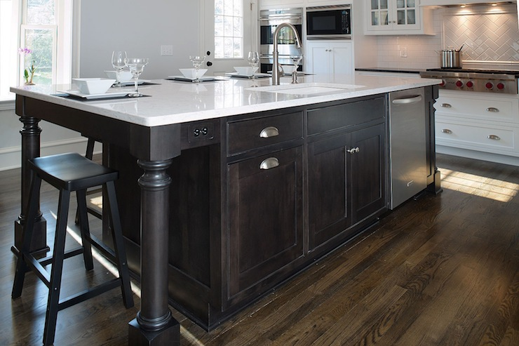 Ordinaire Espresso Kitchen Island