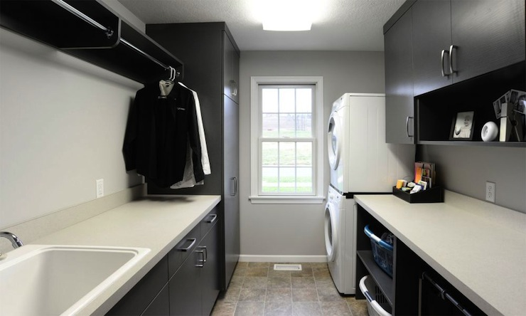 Black Laundry Room Cabinets