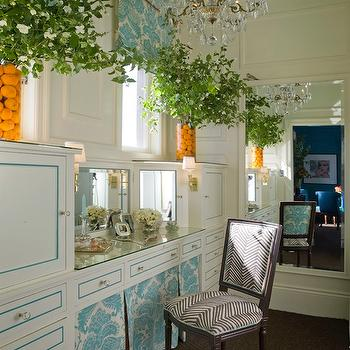 Skirted Make Up Vanity, Eclectic, closet, Kendall Wilkinson Design