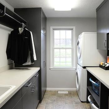 Black Laundry Room Cabinets Modern Laundry Room