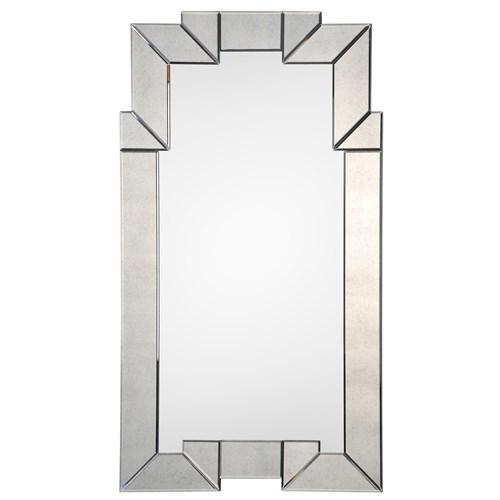 Barclay Butera for Mirror Image Home Brighton Mirror I zinc door