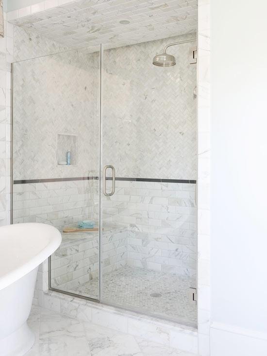 Glass Shower Design Traditional Bathroom BHG