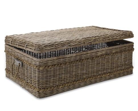 woven rattan coffee table - williams-sonoma