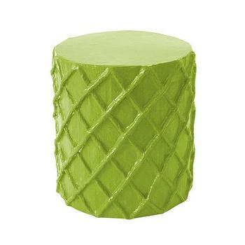 Lime Green Lacquer Modern Cube Table