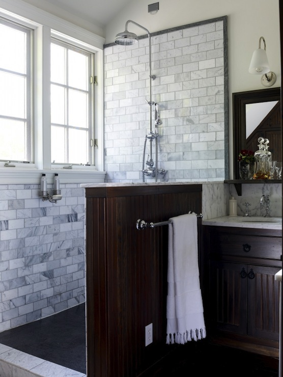 Dark Gray Slate Shower Surround Design Ideas