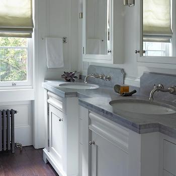 White Double Vanity ideas, Traditional, kitchen, Kathryn Scott Design Studio
