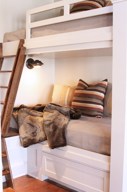 Custom Built In Bunk Beds Cottage Bedroom Lucy And