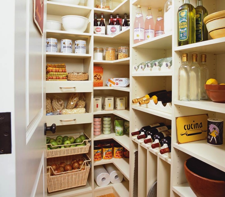 Effective Pantry Shelving Designs For Well Organized: L Shaped Pantry Design Ideas