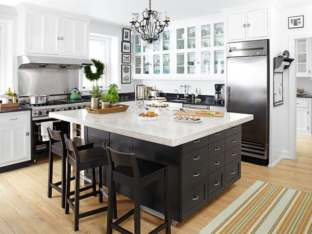 Black Kitchen Island - Transitional - kitchen - HGTV