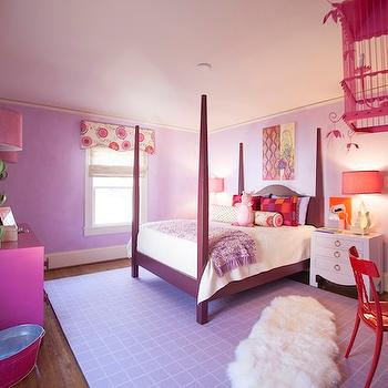 Pink and Purple Girl's Room, Contemporary, girl's room, Lucy and Company