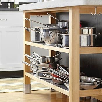Open Shelving In Kitchen Island Design Ideas