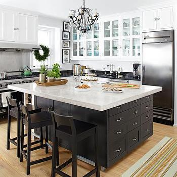Black Kitchen Island, Transitional, kitchen, HGTV