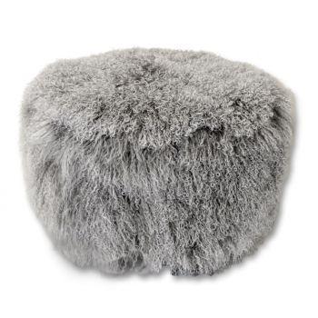 v rugs and home cecil beige pouf. Black Bedroom Furniture Sets. Home Design Ideas