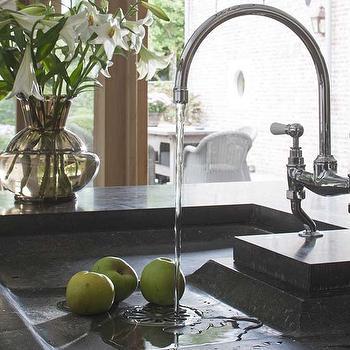 Soapstone Kitchen Sink, Traditional, kitchen, Achterhuis