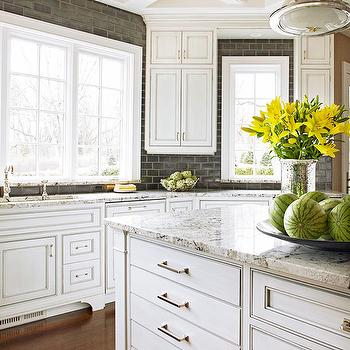 Black Subway Tile, Transitional, kitchen, BHG