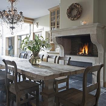 Dining Room Fireplace Pizza Oven, Traditional, dining room, Achterhuis