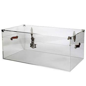Superieur Lucite Trunk I Clayton Gray Home
