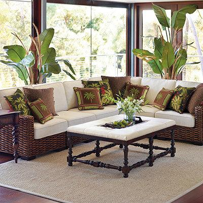 Bombay woven indoor modular seating i frontgate for Modular sunroom