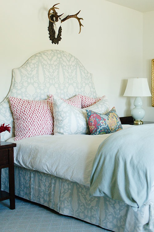 Chenonceau Fabric Headboard Eclectic Bedroom