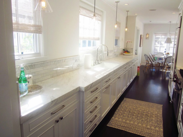 Calacatta Manhattan Marble Transitional Kitchen