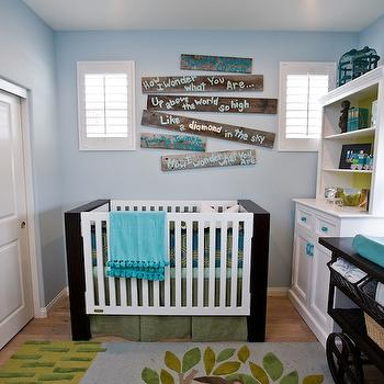 Blue and Yellow Nursery, Contemporary, nursery, Lulu Designs
