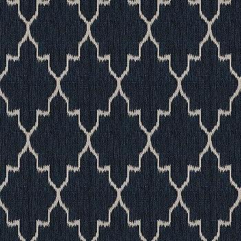 Indochine Ikat Denim Fabric By The Yard, Ballard Designs