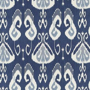Toscana Ikat Blue Fabric By The Yard, Ballard Designs