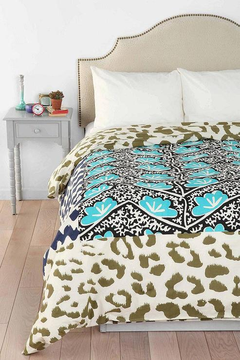 Magical Thinking Falling Leopard Print Duvet Cover I Urban