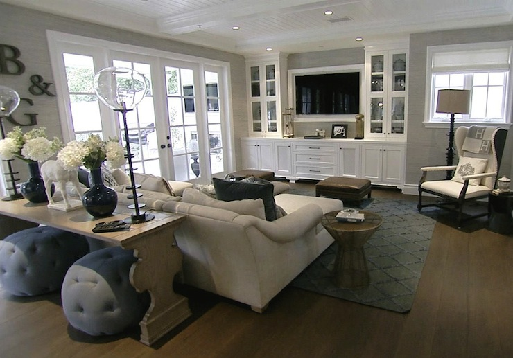 Built In Media Cabinets Transitional Living Room Style Network - Built in media center designs