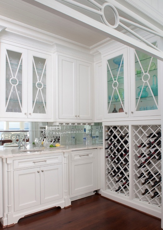 Built in wine rack cottage kitchen marianne jones for Wine rack built in