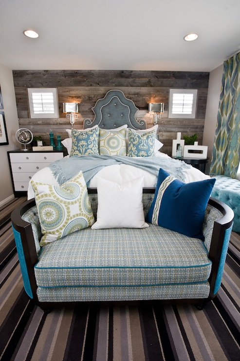 Rustic Plank Accent Wall Eclectic Bedroom Lulu Designs