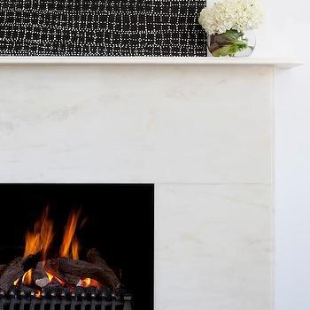 Marble Fireplace, Modern, living room, Camilla Molders Design