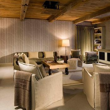 Basement TV Room, Country, basement, Scarp Ridge Lodge