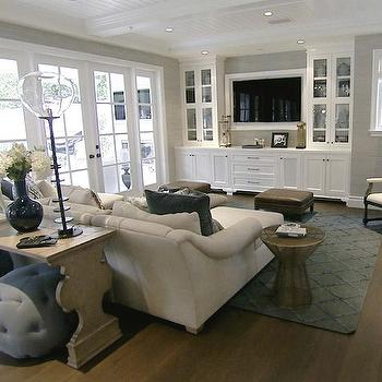 Built In Media Cabinets, Transitional, living room, Style Network